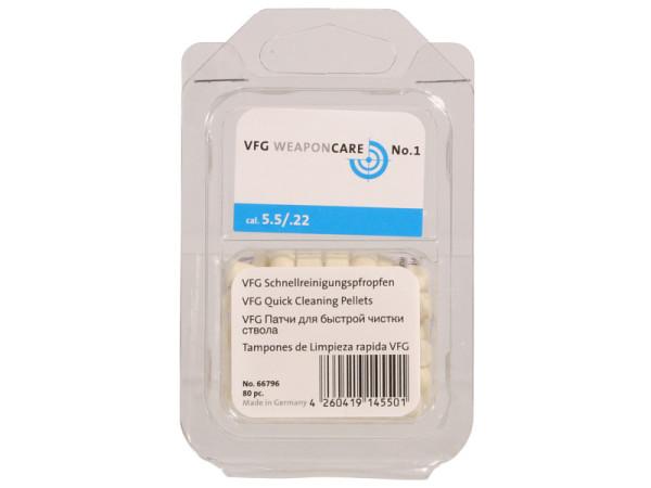 VFG Schnellreinigungspfropfen CO² + Luftdruck Kal. 5,5 mm / .22 / 80 St. Box