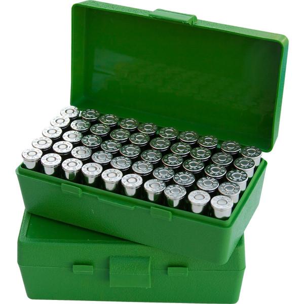 MTM Patronenbox mit Klappdeckel P50-32-10 grün