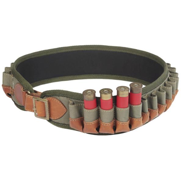 Patronengürtel aus Nylon für Kaliber 12 + 16 Schrot - geschlossen für 20 Patronen