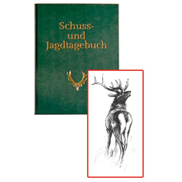 Schuss- und Jagdtagebuch mit 15 Seiten