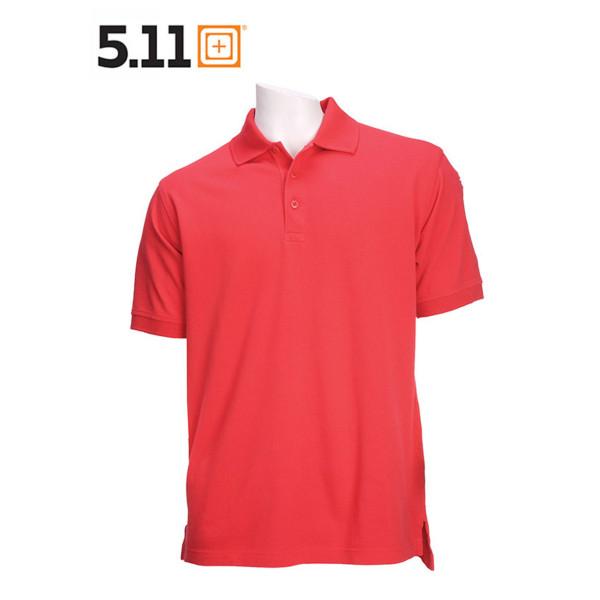 5.11 PROFESSIONAL POLO Kurzarm-Shirt range red
