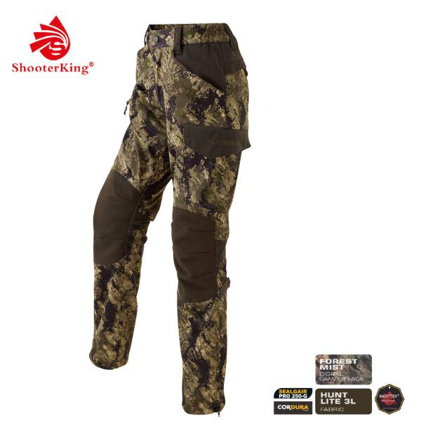 SHOOTERKING Huntflex Damenhose in Digital Camo Forest Mist Optik