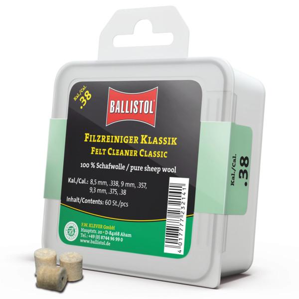 Ballistol Filz Reiniger Klassik Kal. .38 - 60 Stück