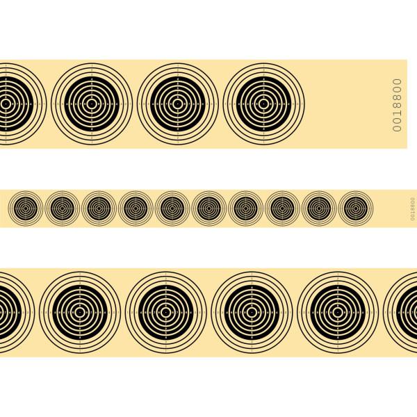 Luftgewehr 10er Streifen für 10 Meter in schwarz - fortlaufend nummeriert - 100 Stück