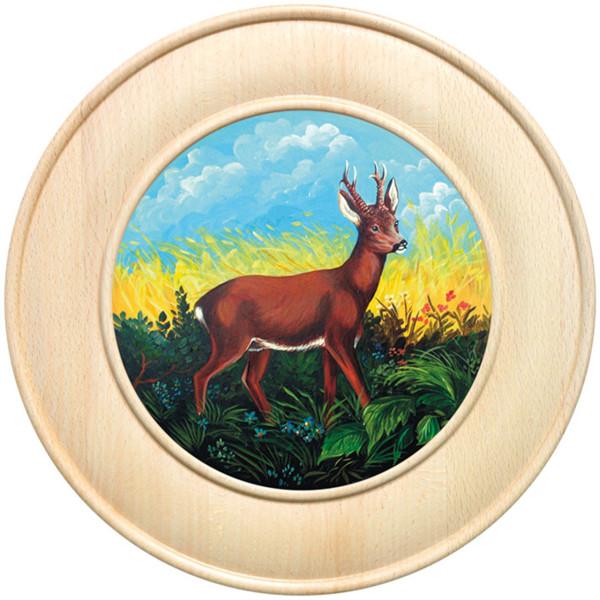 Ehrenscheibe aus Buchenholz mit verschiedenen Motiven - 30 cm