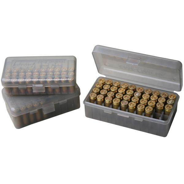 MTM Patronenbox mit Klappdeckel PL-4-41 grau-transparent
