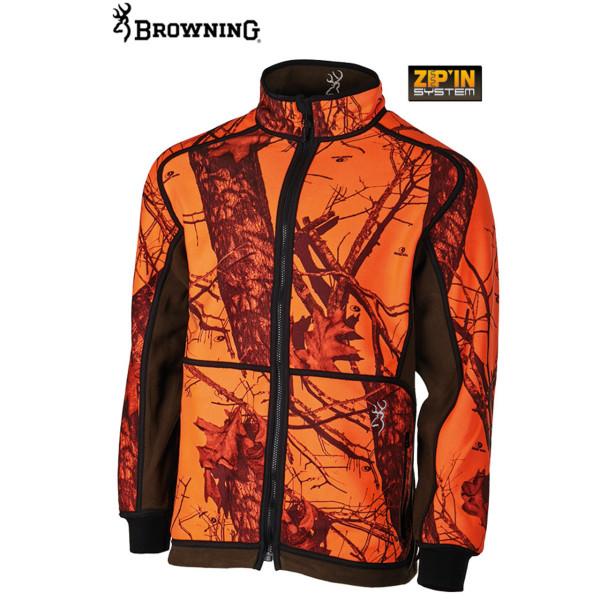 Browning Power Fleece Wendejacke aus Polyester in blaze orange/grün