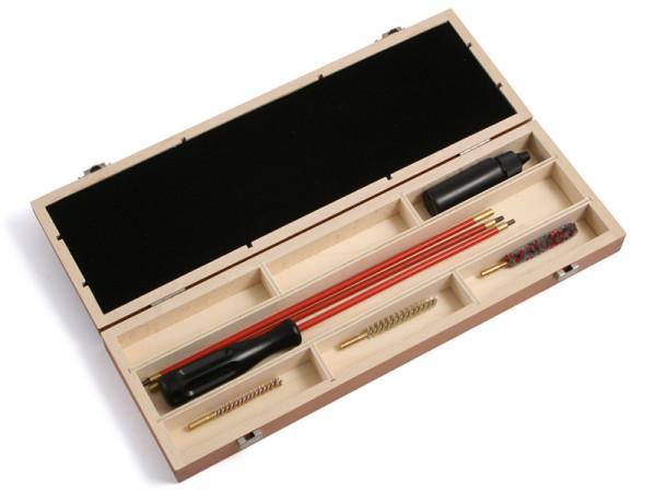 Waffenreinigungsset Kal. 4,5 mm für Langwaffen in der Holzkiste