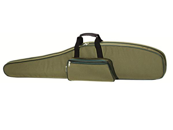 Gewehrfutteral 121cm mit Seitentasche aus Nylon und Polster olivgrün