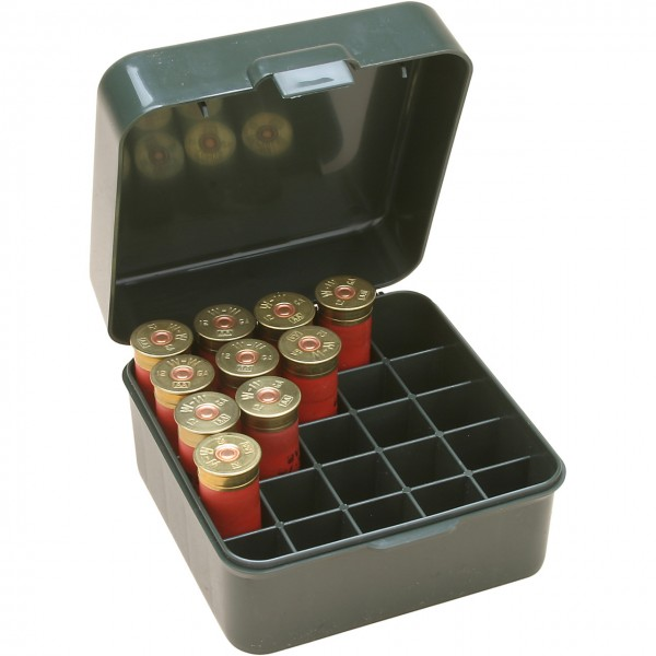 MTM Patronenbox mit Klappdeckel S25D-11 grün