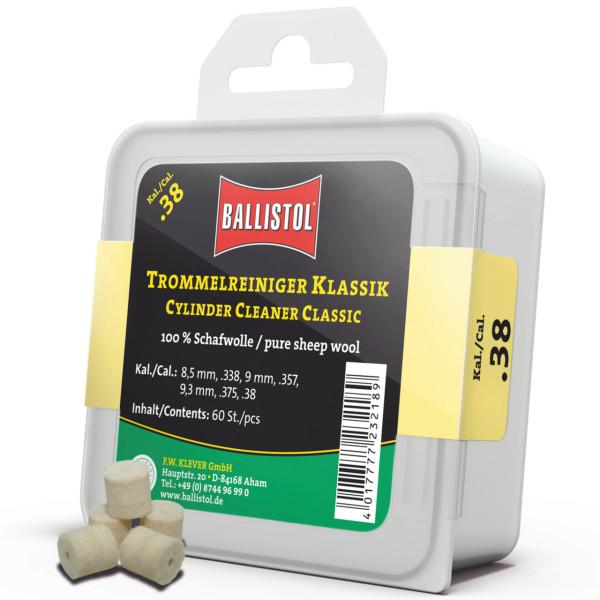 Ballistol Filz Trommelreiniger Klassik Kal. .38 - 60 Stück