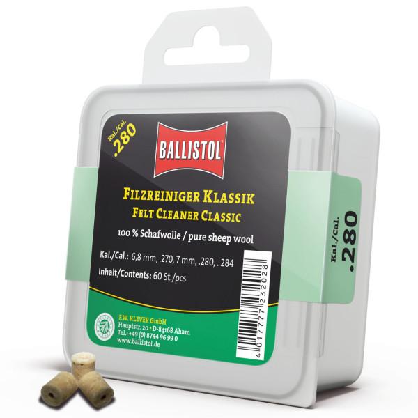 Ballistol Filz Reiniger Klassik Kal. .280 - 60 Stück