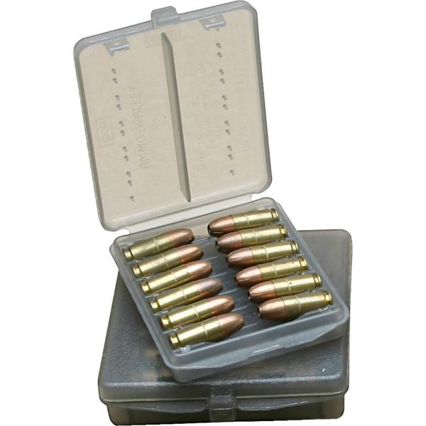 MTM Patronenbox mit Klappdeckel W12B-38-41 grau transparent