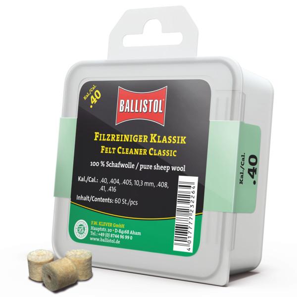 Ballistol Filz Reiniger Klassik Kal. .40 - 60 Stück