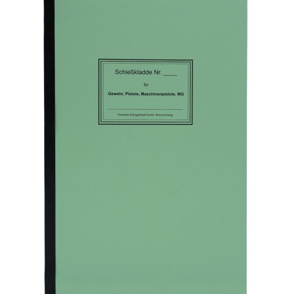 Einheitsschießkladde 100 Blatt für BGS und Polizei