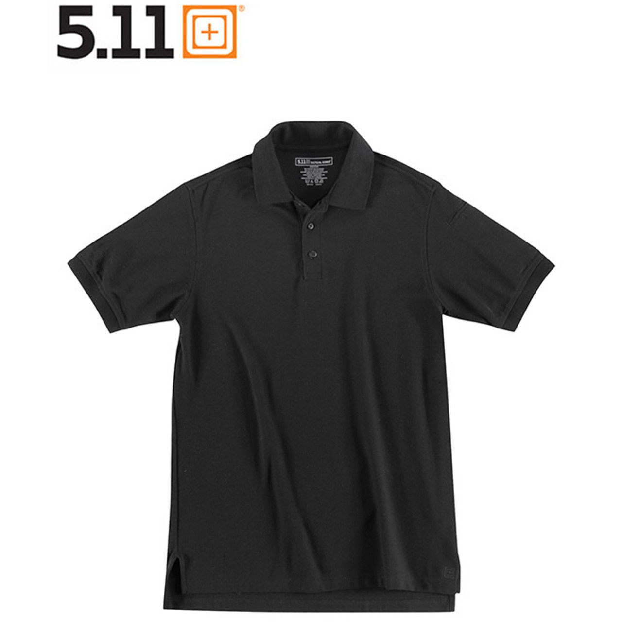 5.11 UTILITY POLO Kurzarm-Shirt black
