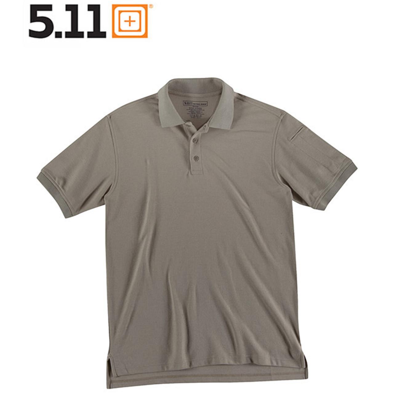 5.11 UTILITY POLO Kurzarm-Shirt silver tan