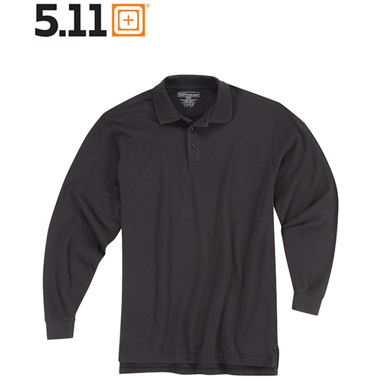 5.11 UTILITY POLO Langarm-Shirt black