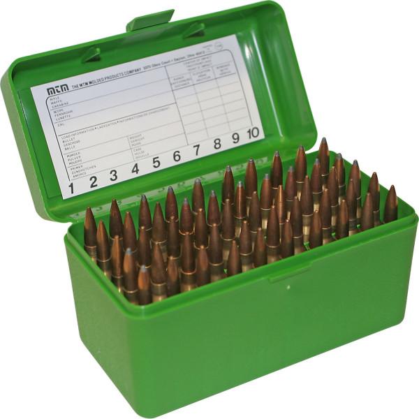 MTM Patronenbox mit Klappdeckel RLLD-50