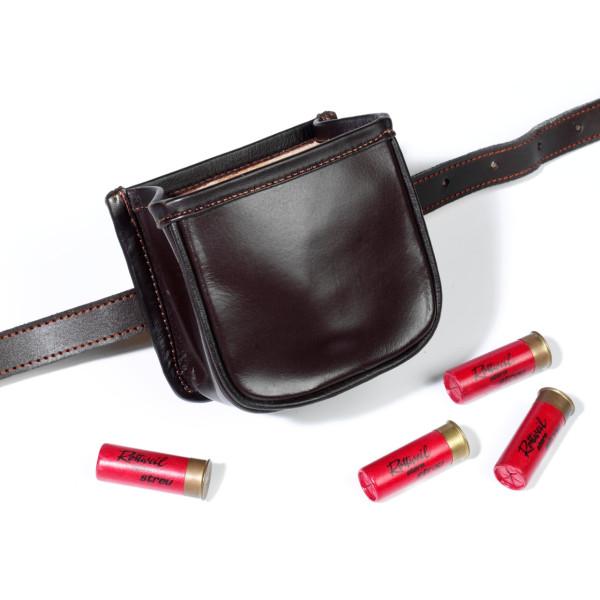 Patronentasche aus Rindleder mit Gürtelschlaufe