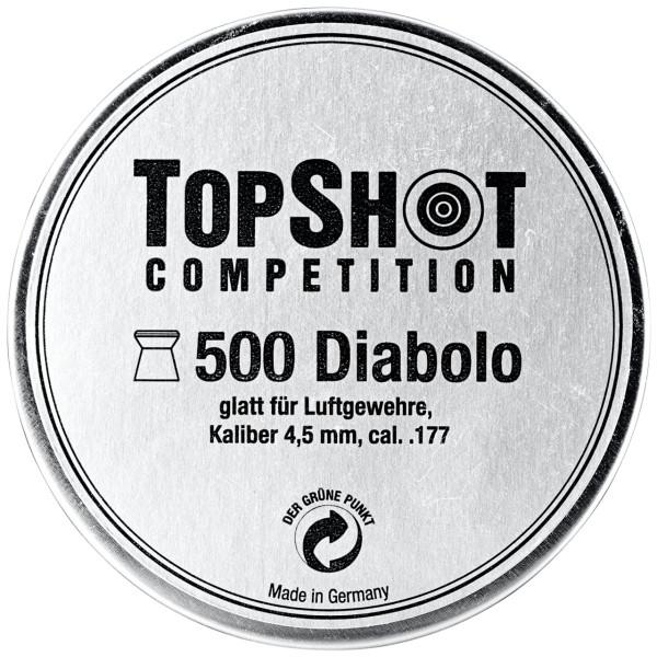 TOPSHOT Competition Diabolos glatt Kaliber 4,5 mm - 500 Stück