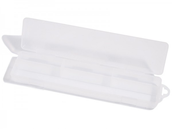 Kunststoffbox 30 x 7 cm - transparent mit Klappdeckel