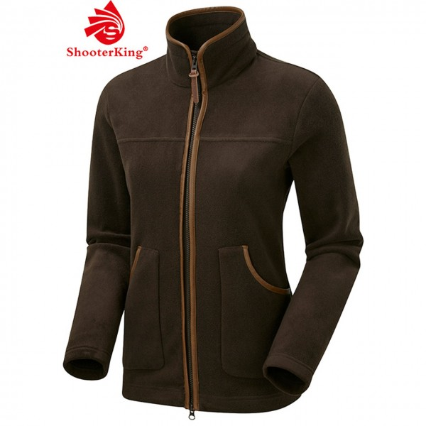 SHOOTERKING PERFORMANCE Damen Fleece Jacke in braun