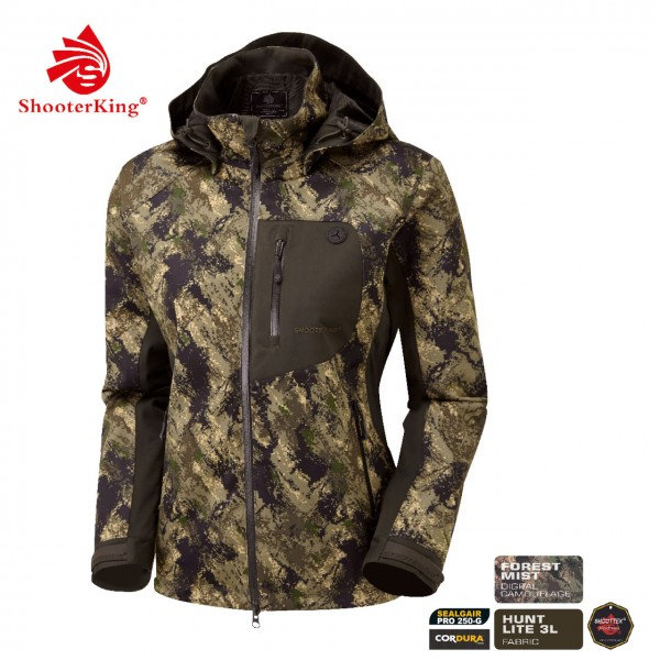 SHOOTERKING Huntflex Damenjacke in Digital Camo Forest Mist Optik