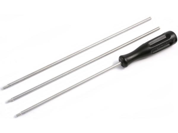 Putzstock Langwaffe 3-tlg dia. 5 mm mit Kunststoffgriff