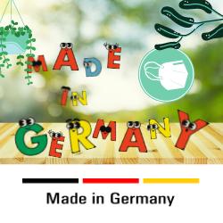 Sentias Kindermaske nach FFP2-Standard in Deutschland hergestellt. Made in Germany.