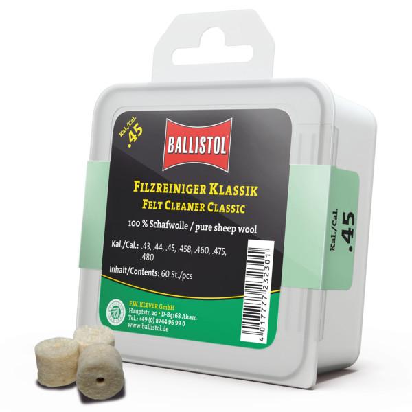 Ballistol Filz Reiniger Klassik Kal. .45 - 60 Stück