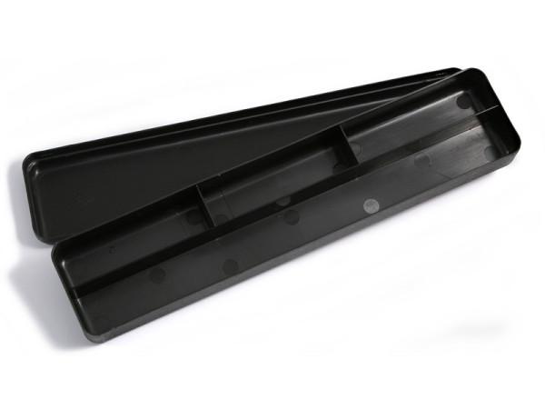 Kunststoffbox 29 x 7 x 3,5 cm - schwarz