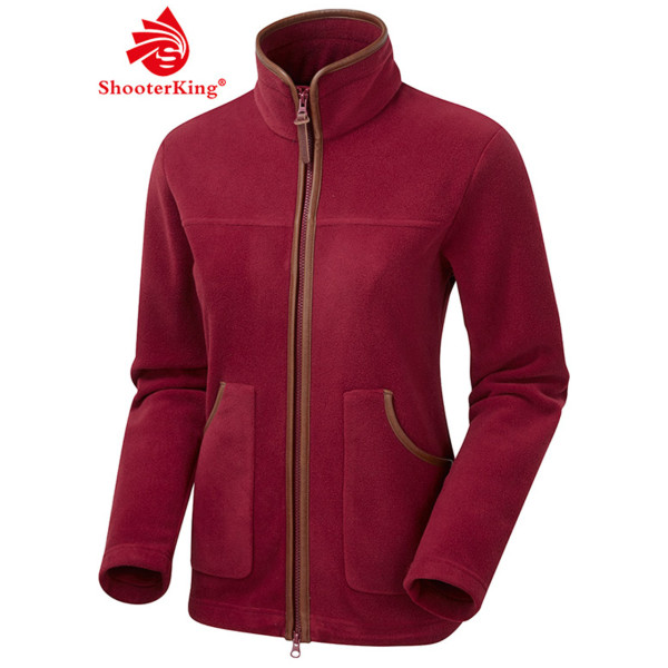 SHOOTERKING PERFORMANCE Damen Fleece Jacke in bordeaux