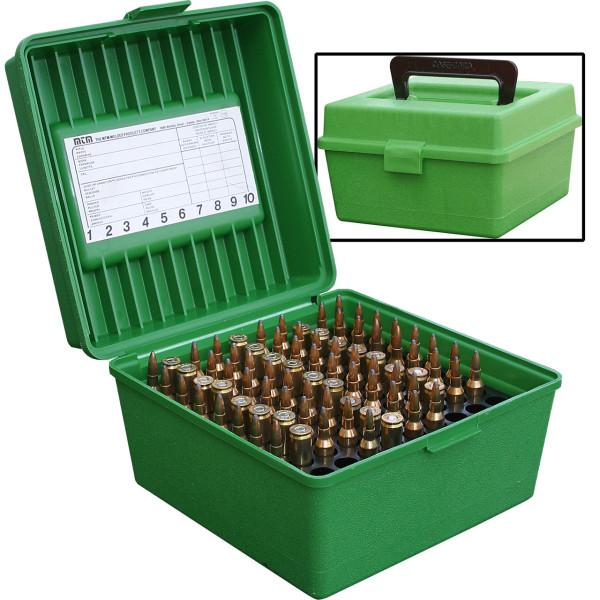 MTM Patronenbox mit Klappdeckel und Griff R-100