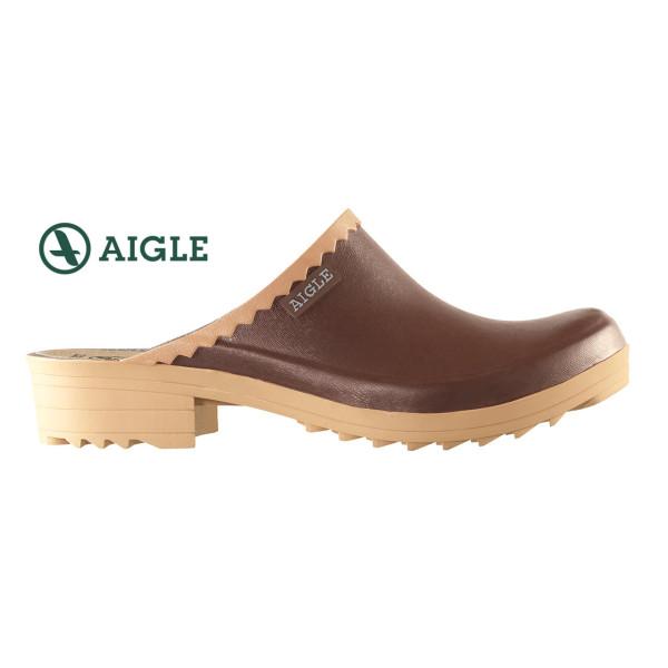AIGLE VICTORINE Damen-Clogs in braun