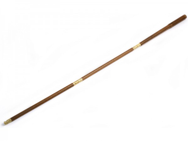 Putzstock Flinte 3-tlg dia. 12 mm aus dunkel lasierten Holz