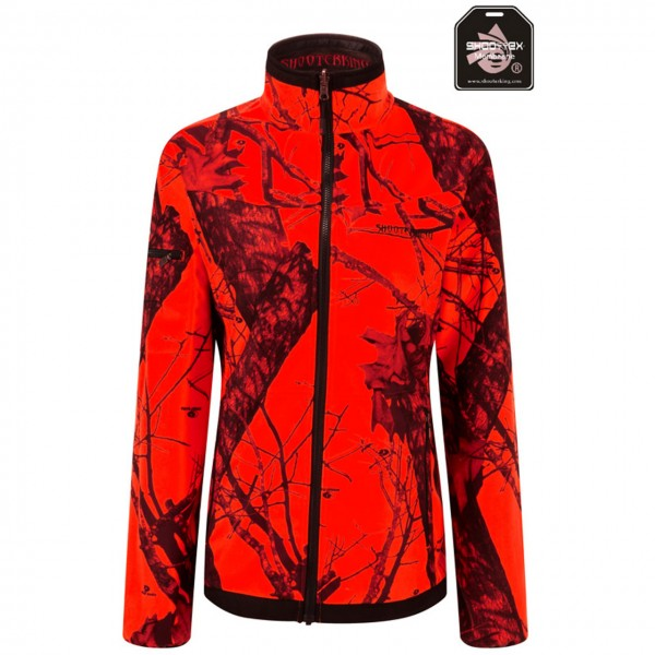 SHOOTERKING Softshell Jacke für Damen in Mossy Camouflage blaze orange/braun