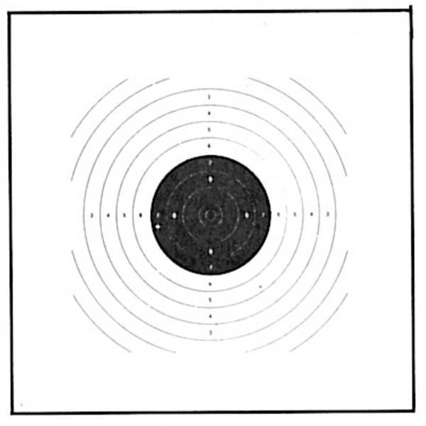 Luftpistolen-Scheibe 17x17cm
