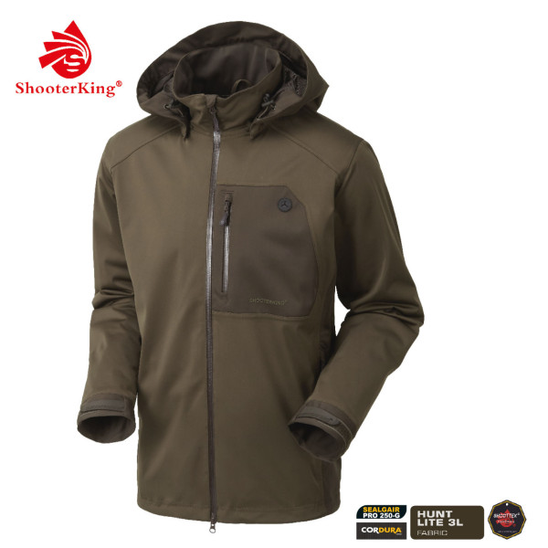 SHOOTERKING Huntflex Herrenjacke in braun/oliv