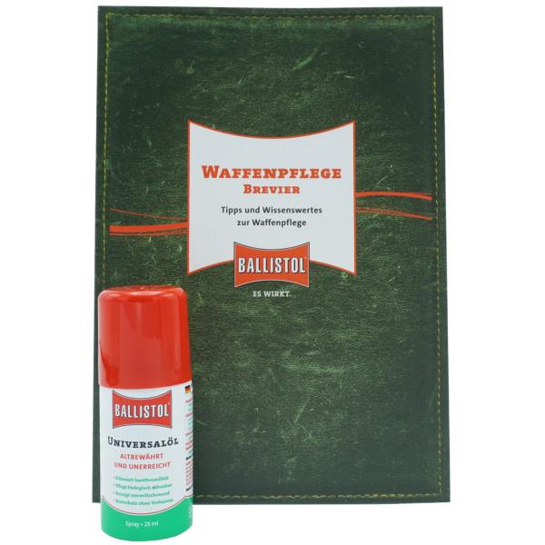 Ballistol Universalöl-Spray 25 ml mit Waffenpflege Brevier