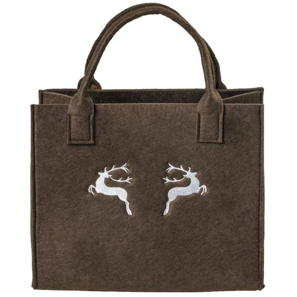 Filz-Shoppingtasche Motiv Hirsche
