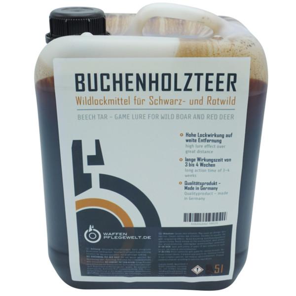 Buchenholzteer für Sauen und Rotwild im 5,0 Liter Kanister