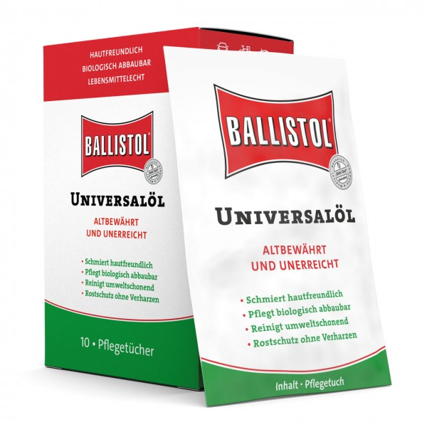 Ballistol Universalöl Tücher-Box mit 10 Stück