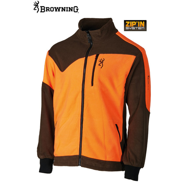 Browning Power Fleece Jacke aus Polyester in orange/grün