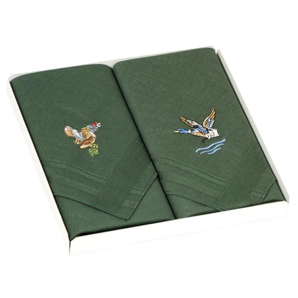 Taschentücher Ente und Birkhahn aus Baumwolle