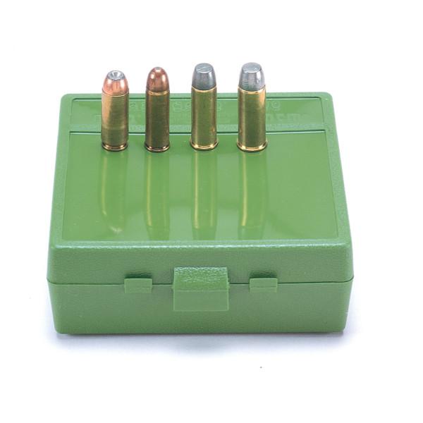 MTM Patronenbox mit Klappdeckel P64-50-10 grün
