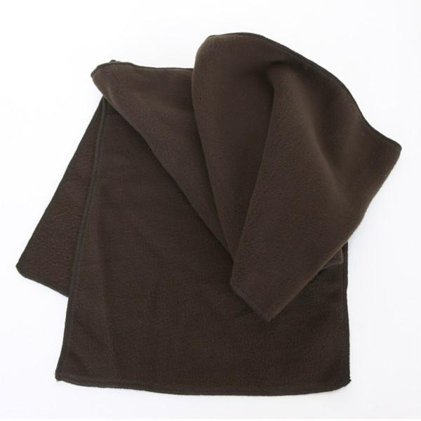 Fleece-Schal aus Polyester in braun