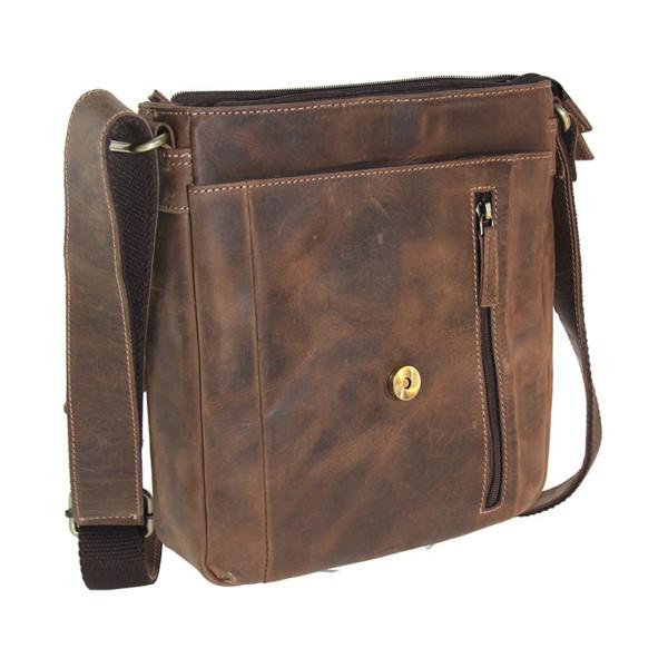 AKAH Umhängetasche Messenger-Bag aus Antikleder