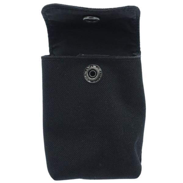 Tasche klein mit Druckknopf und Grütel schnalle in schwarz - 100 x 70 mm