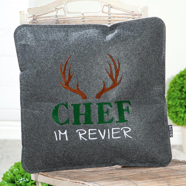 """Kissen """"Chef im Revier"""""""